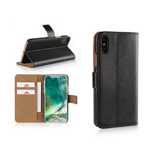 Hot Selling 2017 Amazon Classical Style Magnetic PU Leather Wallet Flip Case For iPhone X FBA Accept
