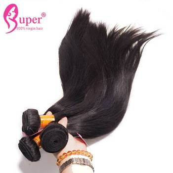 Unprocessed Wholesale 100% Brazilian Virgin Hair Weft Sewing Machine Can Be Bleach And Flat Iron