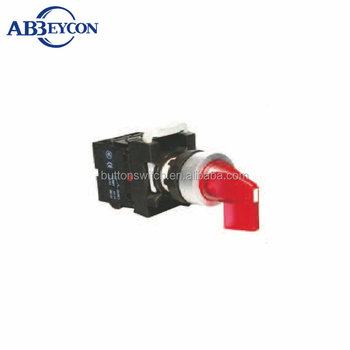 BB135 Long handle Rotary push button IP65 momentary from R to C waterproof rotary switch