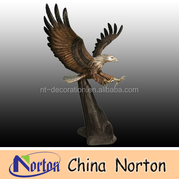 Large outdoor Bronze Eagle statues NTBH-D053