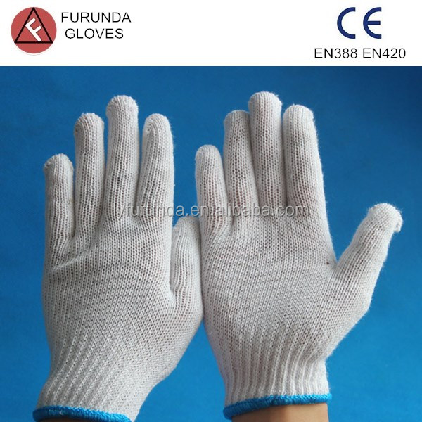 cotton glove for industry heavy duty,bleached white cotton glove