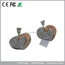 Beautiful Heart shape jewelry shape usb 2.0 flash memory/Sweete Romance USB