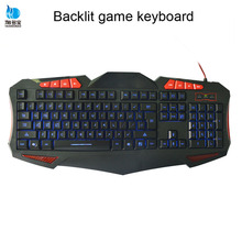 best selling LED backlights multimeida wired gaming keyboard for gamer
