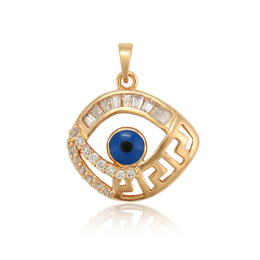 <strong>P014</strong> xuping turkish eye women gold 18k necklace pendant muslim Moslem Islamic full circle jewelry