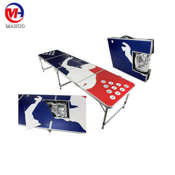 Beer Pong table with cooler/OEM custom beer pong table / beerpong with ice busket