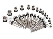 HOT!HOT!Stainless steel custom Ear Tapers Plugs Gauges Stretching Kit