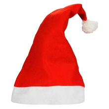 2017 Christmas Decorations Handmade Wholesale 12pcs per pack Red Santa hat for kids and adults