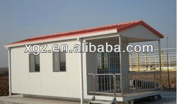 Slop roof steel structure prefabricated house for apartment