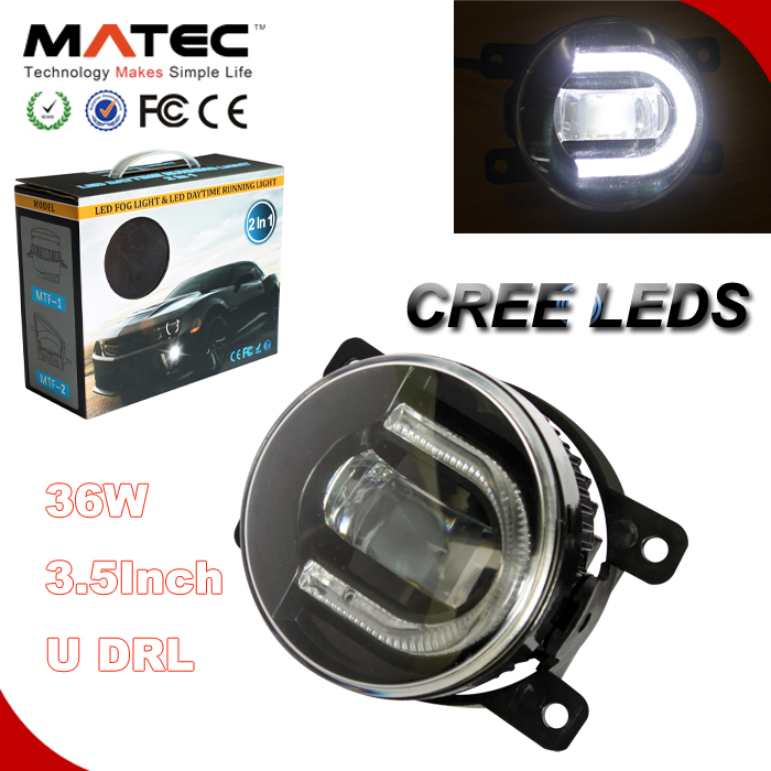 matec 3.5inch led fog light auto 36w led daytime running lights for vw touran