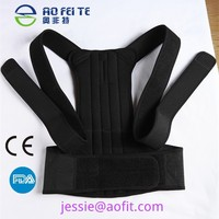 Adjustable Magnetic Posture Back Support bar Corrector Brace Shoulder Band Belt