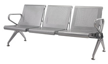Airport bench padded waiting area chair