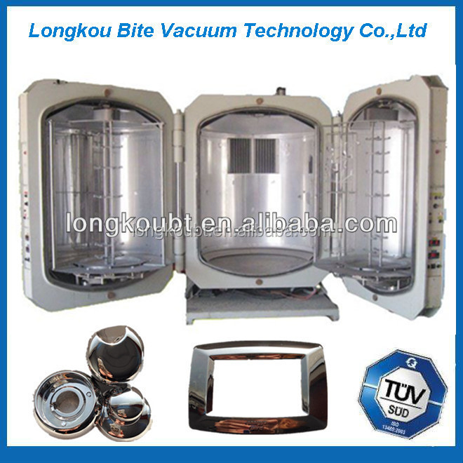 glass cup mirror vacuum metalizing coating machine/disposable plastic spoon/fork titanium coating machine