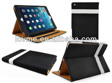 2014 New design Folder PU Tan Leather Flip Case Cover For ipad air