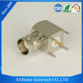 Coaxial cable rf connector bnc 4 holes for RG174