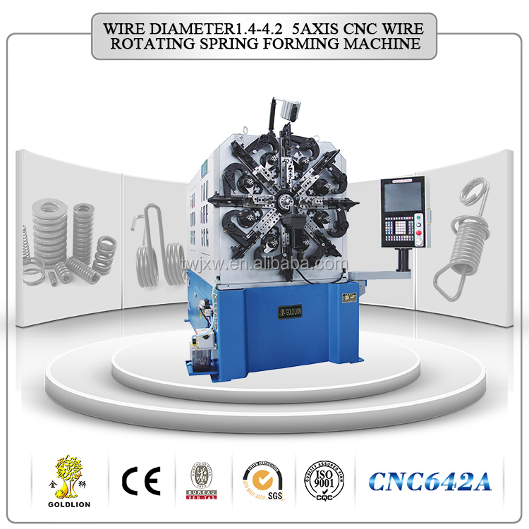 CNC642A hot sale wire rotating spring forming machine