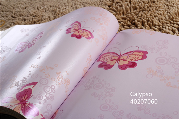 Butterfly smooth surface non-woven wallpapers home interior wallpaper green / pink / white / cream /black 10 colors