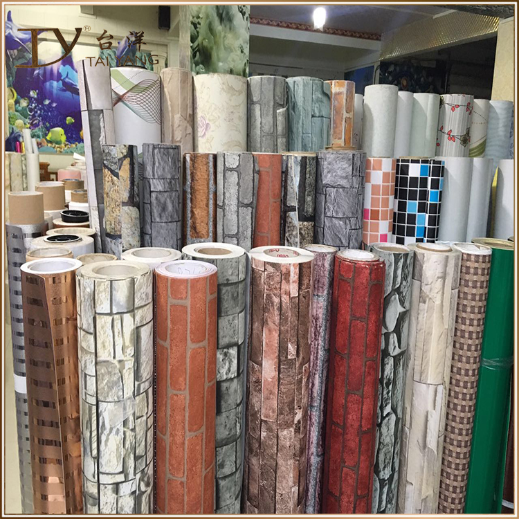 D3501 china waterproof brick mural stone 3d wallpaper decorative wall paper rolls