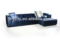 Modern fabric L shape sofa (LS-104 E+G)