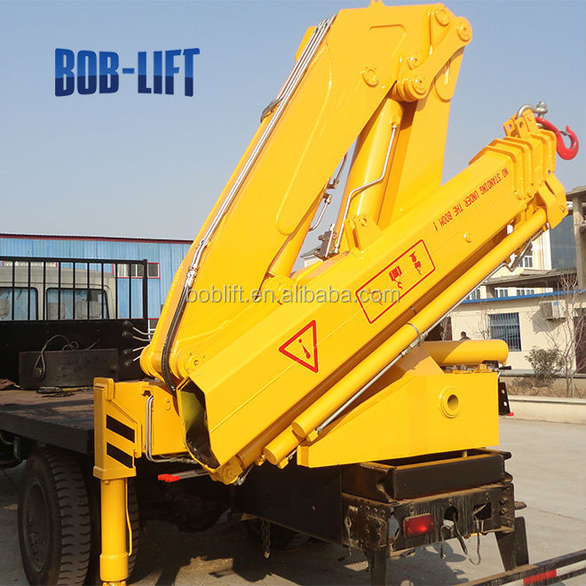 Construction Lift Arm : Price hydraulic folding truck with crane view