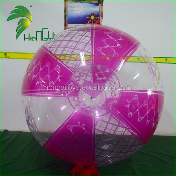 Popular Advertising Beach Ball Inflatable With Logo Printing , Large Transparent PVC Beach Balloon For Sale