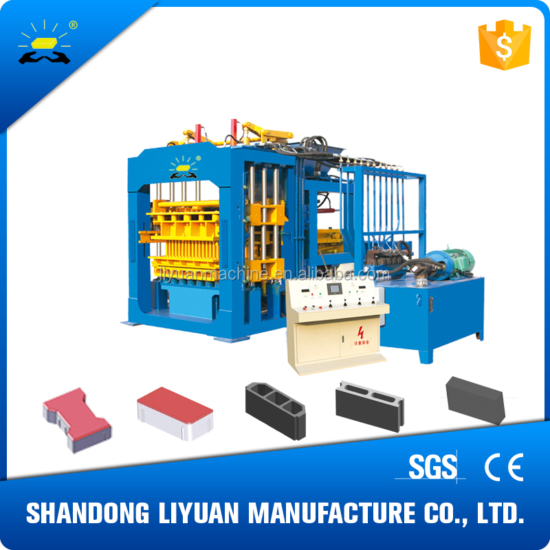 QT12-15 stationary concrete brick making machine for sale