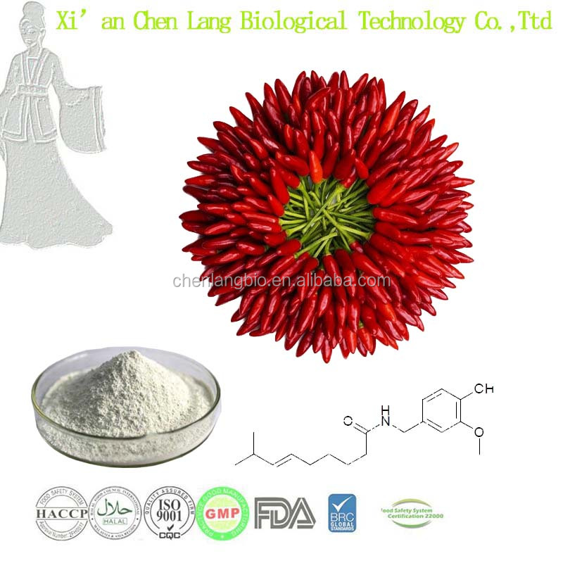 Pure Purity Synthetic Capsaicin Powder of Capsicum Extract 99%