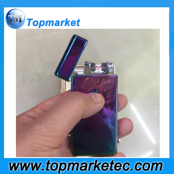 ultral thin metal windproof long lasting electronic cheap custom lighter