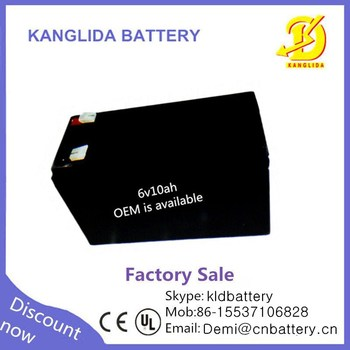 12 Months Warranty, 6v 10ah vrla rechargeable battery