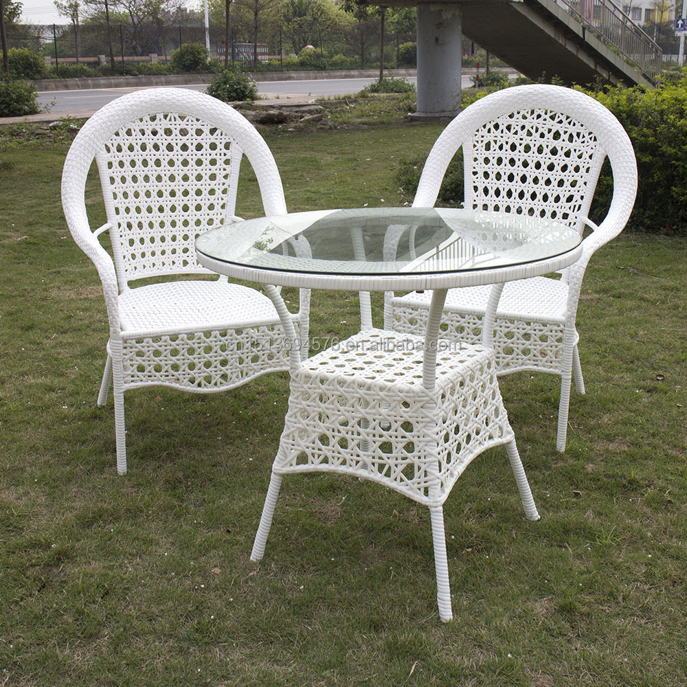Rattan / Wicker Material Outdoor Furniture round table and chair set