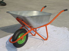 garden galvanised chassis wheel barrow