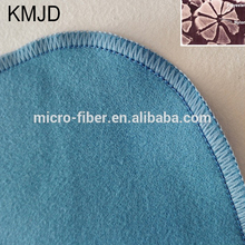 China blue round edge microfiber cleaning cloth