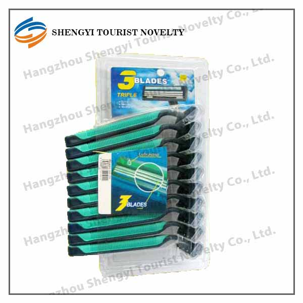 High Quality Plastic Handle Cheap Disposable Double Edge Safety Razor Blade