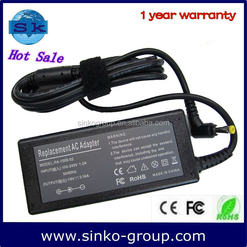 made in china for dell desktop computer adapter price 19V 3.16A 5.5*2.5
