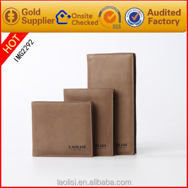 Factory Mens wallet brands genuine leather slim wallet to important