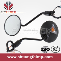 ZF001-10 FLYQUICK motorcycle rearview side mirrors with turn signals or indicator light for Honda CG125