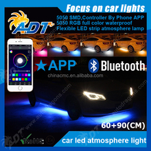 APP Control 7 Colors LED Strip Underglow Light Under Car RGB Atmosphere Bulb 5050SMD Auto Body Glow Light Kit