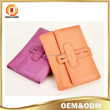 New genuine cowhide Leather women folded wallet.handmade wallet women