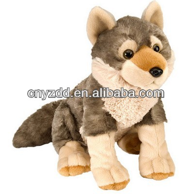 plush wolf/cute wolf plush toy/plush soft toy wolf