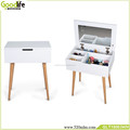 Hot selling simple design mirror dressing table singapore