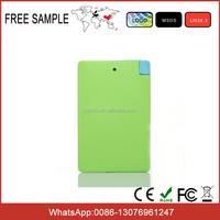Portable card mobile phone power bank 2600mAh External Battery Charger Backup Pack Mobile Powerbank