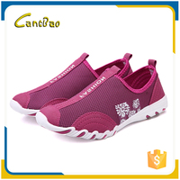Summer cheap slip-on women breathable mesh casual shoes