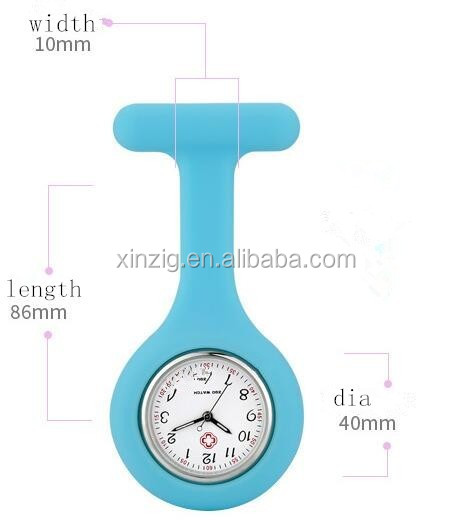 Silicone Nurse Watch Pockete Watch Eco-friendly 2017