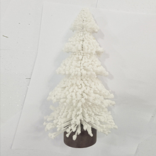 Latest design promotional table decoration items plush christmas tree