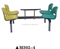 Hot used dining room furniture, Favorable price fast food table and chair M302-4