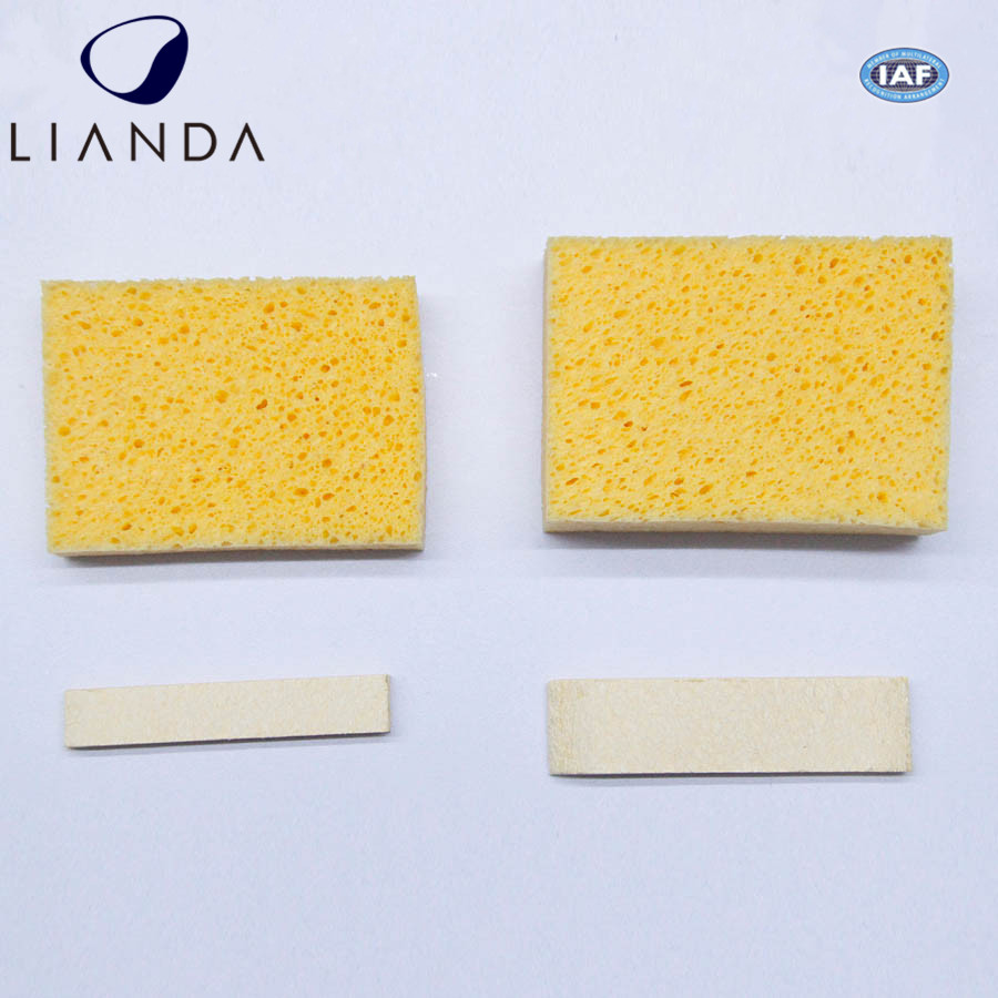 Hotsale customized shape compressed cellulose sponge sheets with printing