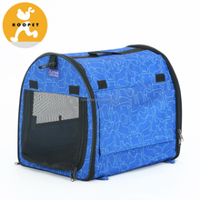Blue Pet Bag Carrier with White Pattern for Dogs and Cats