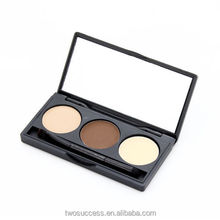 Wholesale Make Up Private Label Waterproof Eyebrow Powder 3 Colors Mirror Eyebrow Powder Palette