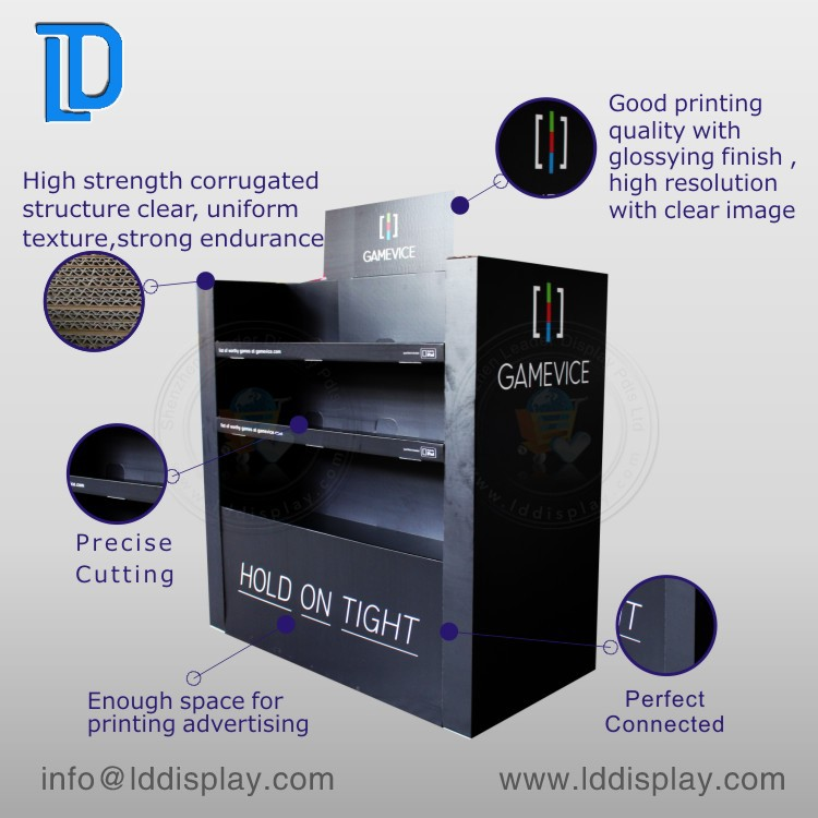 Factory direct sale custom design 4C/4Color printing recyclable cardboard candle display stand