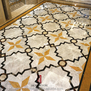 Greece Venus Composite Marble Tiles Grey Color Marble Floor Design Pictures