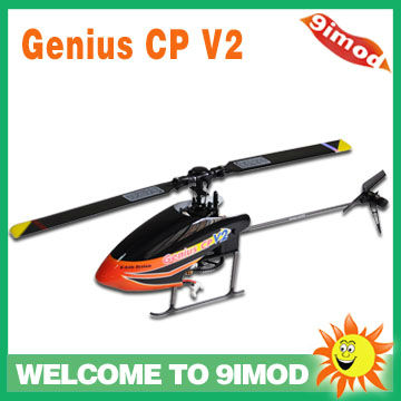 Walkera Genius CP V2 Flybarless 6-axis Gyro 2G Digital Servo Mini Helicopter (Kit)